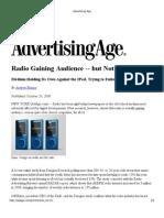 Advertising Age Radio is Growing