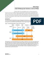Altera Enabling 100-Gbit OTN Muxponder Solutions on 28-Nm FPGAs