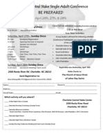 Charlotte Central Stake LDS Single Adult Conference, Be Prepared