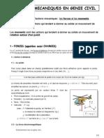 Actions mécaniques - Cours première STI GC