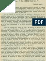 Blas Pascal y Su Antropologia