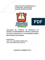 Informe Final Economia San Miguel 2011