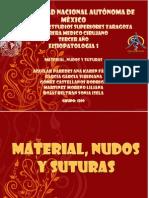 Material, Nudos y Suturas