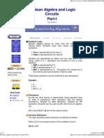Boolean Algebra and Logic Circuits Part-I