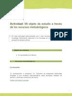 ACTIVIDAD 5 Mi Objeto de Estudio a Travez de Los Recursos Metodologicos