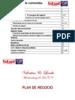 Valentino Landa Plan de Negocios PDF
