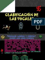 CLASIFICACIÓN DE LAS VOCALES
