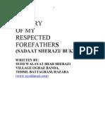 History of forefather of Sadat Bukhari