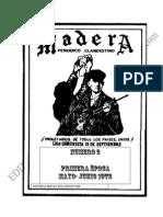 GUERRILLA MADERA N° 3 1972 Viejos