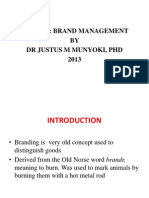 Brand management notes
