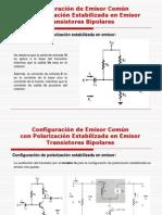 13931053 Polarizacion Estabilizada en Emisor AC Transistores Bipolares