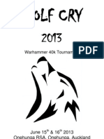 Wolf Cry 2013 40k Players Pack