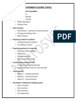 Hypermesh Course Topics