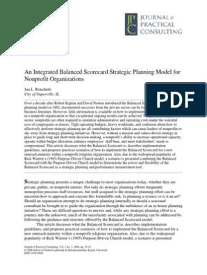 balanced scorecard pdf | Swot Analysis | Strategic Management
