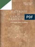 Materiale şi Cercetări Arheologice, XIV, 1980
