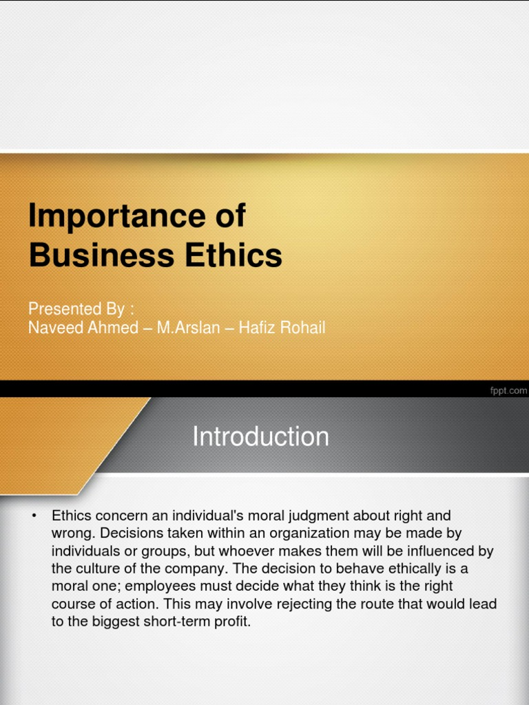 Importance Of Business Ethics Business Ethics Employment