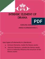 Intrinsic Element of Drama