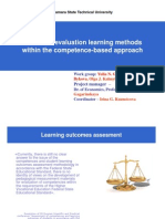Review of evaluation learning methods within the competence-based approach