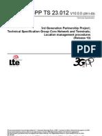 23012-A00 - Location Management Procedures