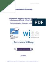 Philanthropy Study