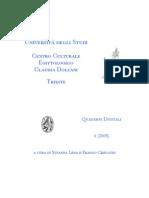 F. Crevatin, Porfirio e gli dei egiziani, Trieste 2005