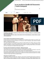 2012-01-09 La Discusion, Chile-Guía práctica para no perderse detalle del Encuentro Internacional de Teatro Entepach