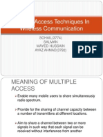 Multiple Access Techniques in Wireless Communication Ppt Ayaz
