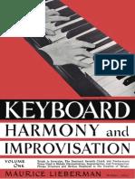 Maurice Lieberman - Keyboard Harmony and Improvisation, Vol. 1