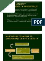 DIFICULTADES DE APRENDIZAJE DE  2ª lengua