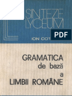 Gramatica de baza a limbii române