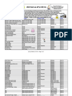 Job List Week of March 18, 2013