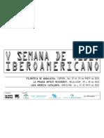 Programación 'V Semana de Vídeo Iberoamericano'