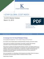 I-Star Global Cost Index 1Q 2013
