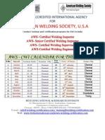 2013 AWS Schedule