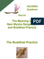 Nam Myoho Renge Kyo and Buddhist Practice
