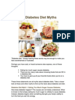 Diabetes Diet Myths