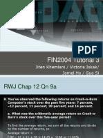 FIN2004 Tutorial 3