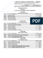 Circular 20 Theory Time Table UGPG 200313