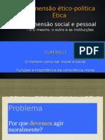 """ÉTICO-POLÍTICA - A DIMENSÃO SOCIAL E PESSOAL (de acordo com manual """"Pensar Azul"""")"""