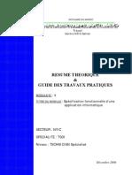 Spécifications Fonctionnelles d'Une Application 20TIC-TSDI