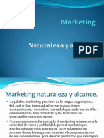Marketing - Naturaleza y Alcance