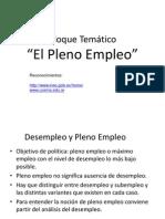 Desempleo Pleno Emp Enero