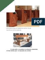 bancas parroquia