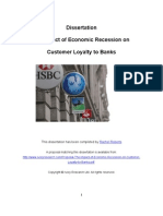 Dissertation the Impact of Economic Recession on Customer Loyalty to Banks