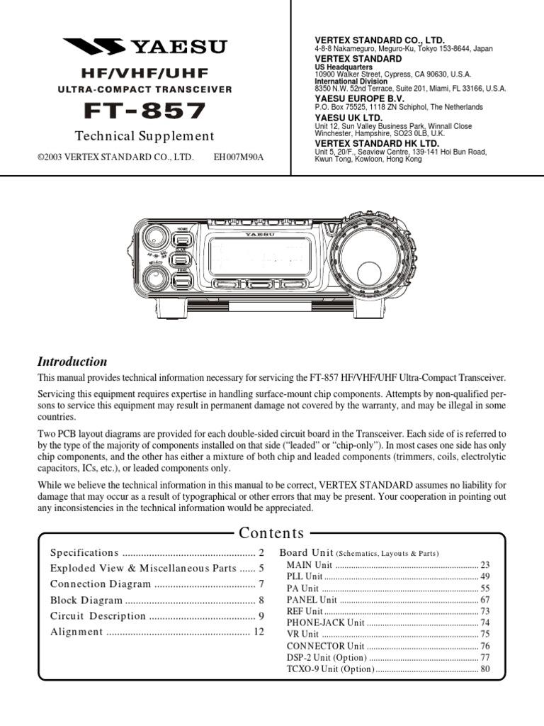 Yaesu Ft 857 Service Manual Frequency Modulation Amplifier Resistors Lights In Series C 20032012 4physicscom