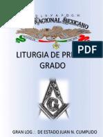 Liturgia de Primer Grado Rito Nacional Mexicano