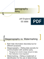 Jeff England Audio Steganography