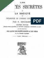 Les Societes Secretes Et La Societe (Tome 1)