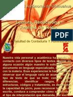 Lectura Redaccion y Analisis de Texto