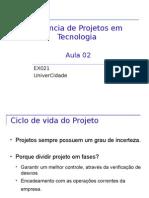 Gerencia de Projetos - Aula 2